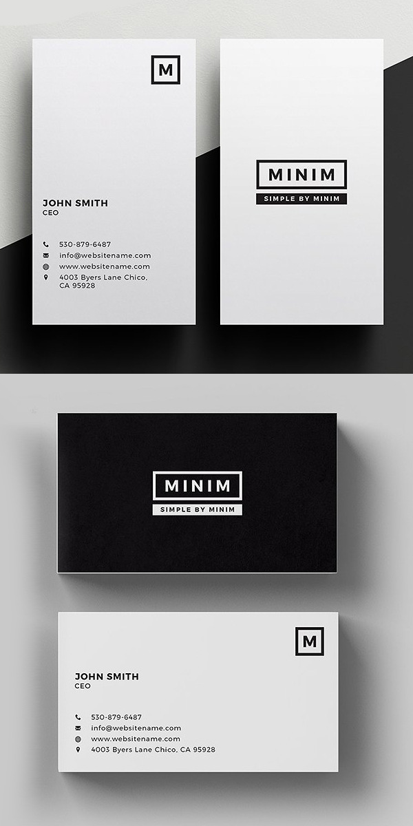 25 Minimal Clean Business Cards (PSD) Templates – Mixed Sign
