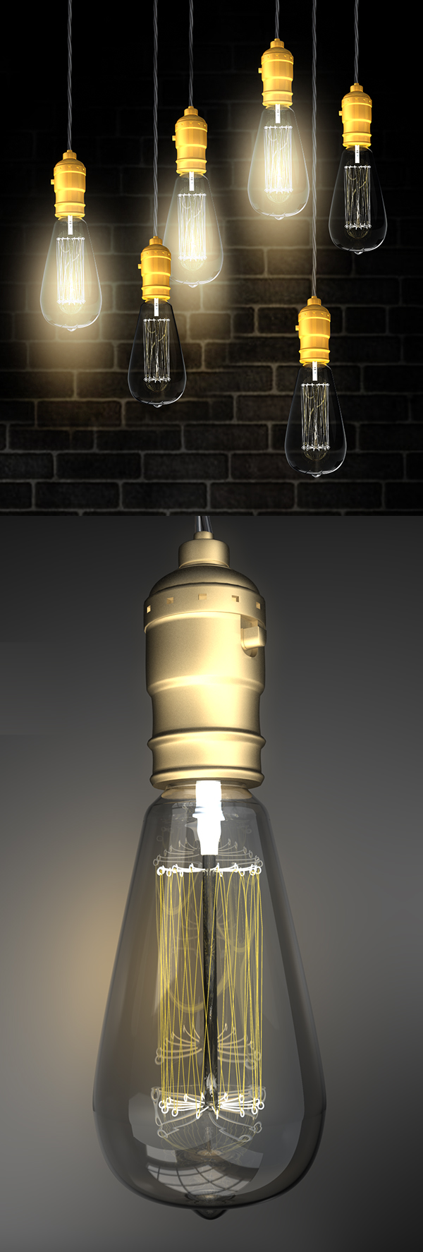 Free Bulb Lights PSD Mockup Templates