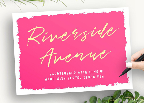Riverside Avenue (hand brushed) Free Font