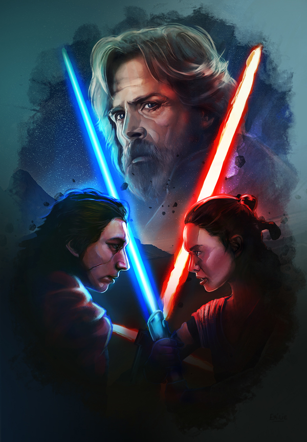 Amazing Illustration of Star Wars: The Last Jedi 1