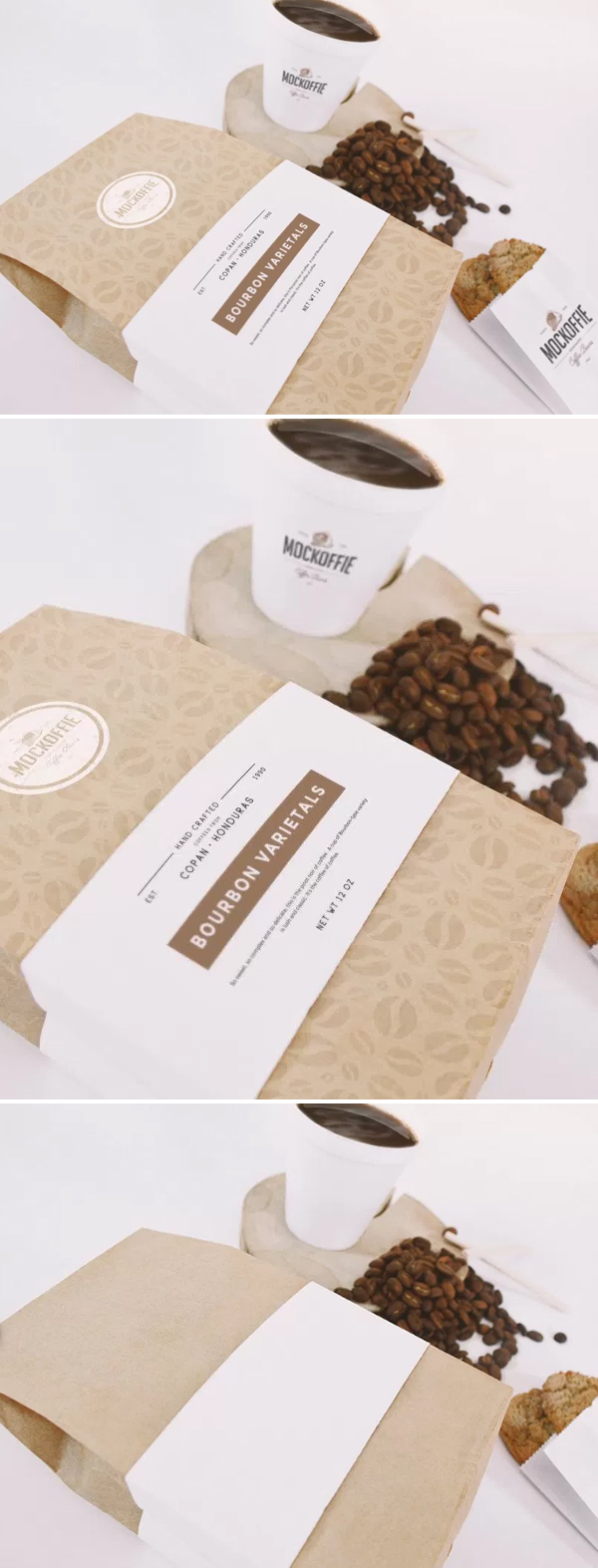 Free Coffee Bag And Cup Mockup