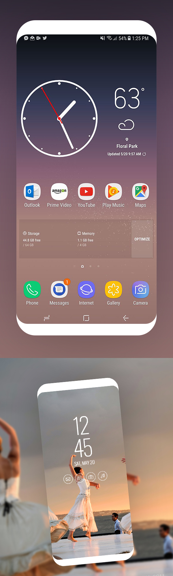 Free Samsung Galaxy S8 Screen Mockup Design