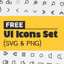 Post thumbnail of 140+ Free Vector UI Icons (SVG)