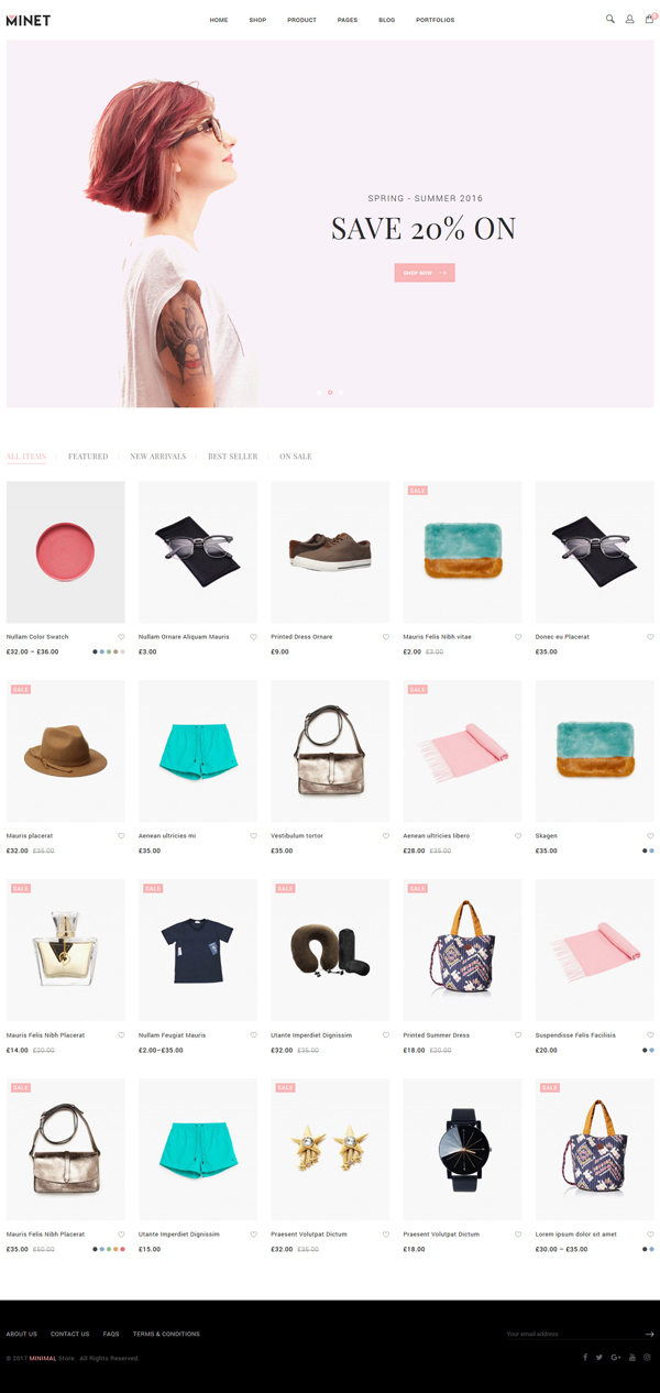 Minet - Minimalist eCommerce WordPress Theme