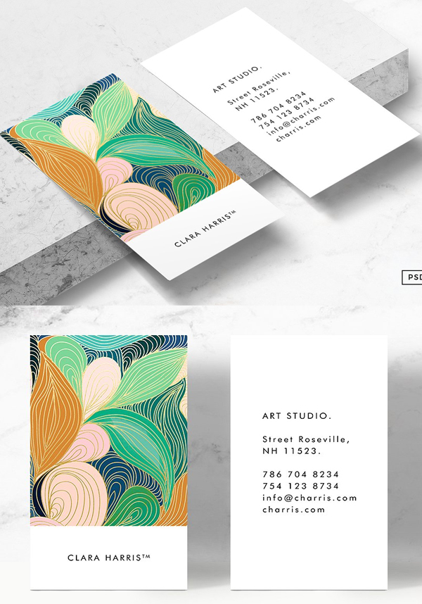 Swirly Art Business Card Tmeplate