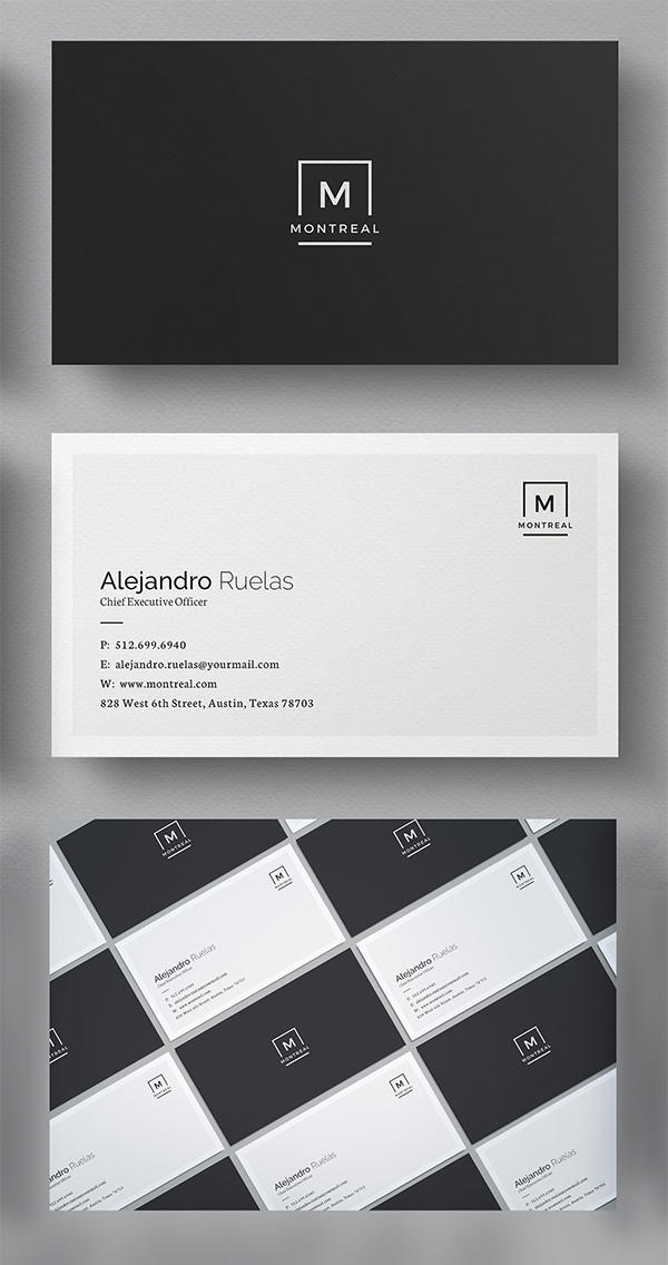 Elegant business cards psd templates design graphic design clean business card template wajeb Image collections