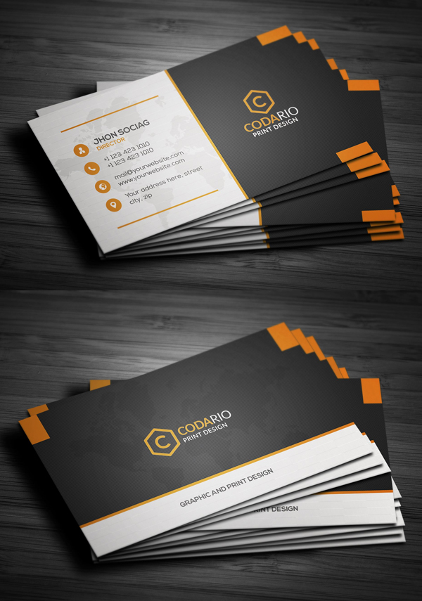 Elegant Business Cards (PSD) Templates | Design | Graphic Design ...