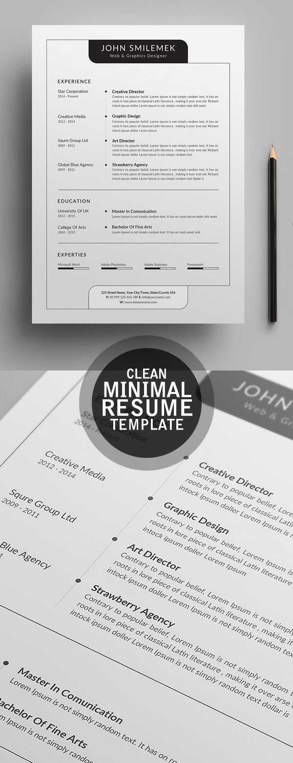 Fresh Simple, Clean Resume Templates and Cover Letter | Design ...