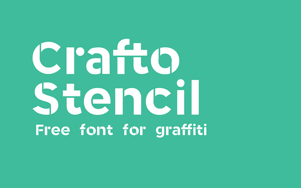 Crafto Stencil free fonts