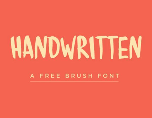 Handwritten Brush free fonts