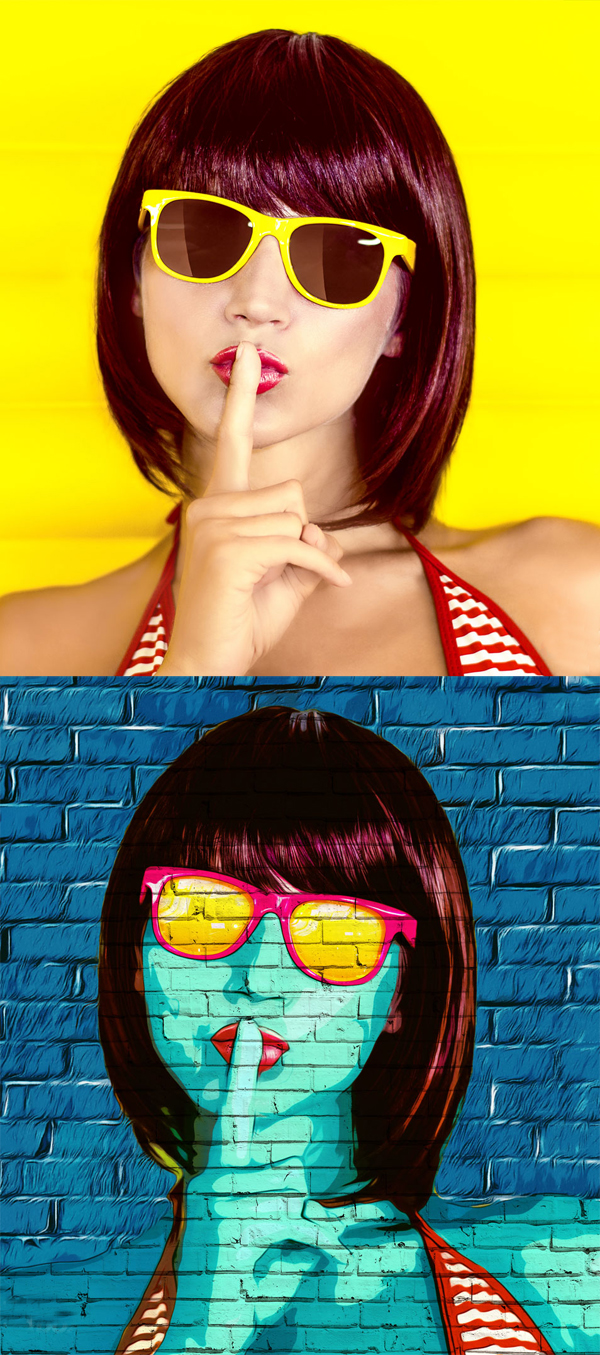 How to Create Pop Art Photoshop Portrait Effect
