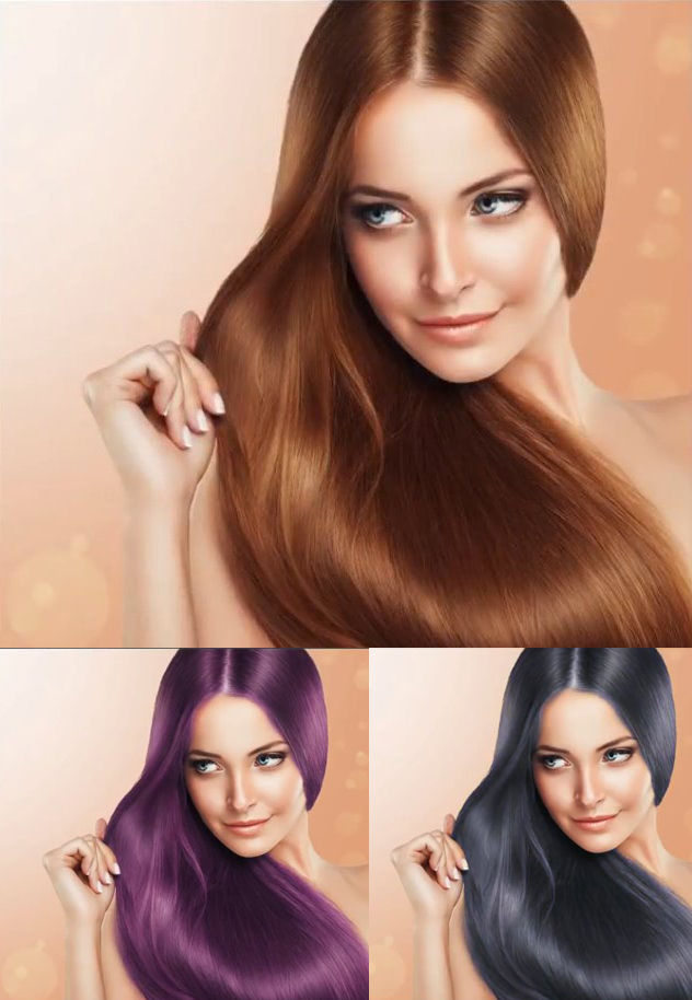 How to change Hair color in Photoshop tutorial