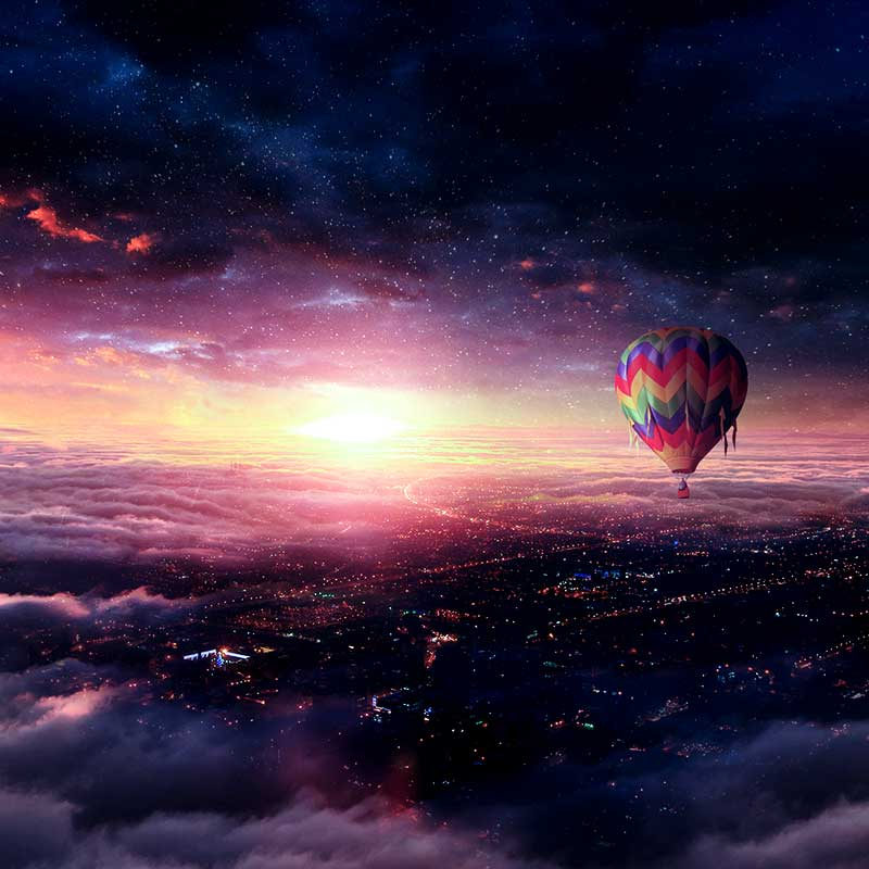 Create Hot Air Balloon Adventure Photo Manipulation in Photoshop