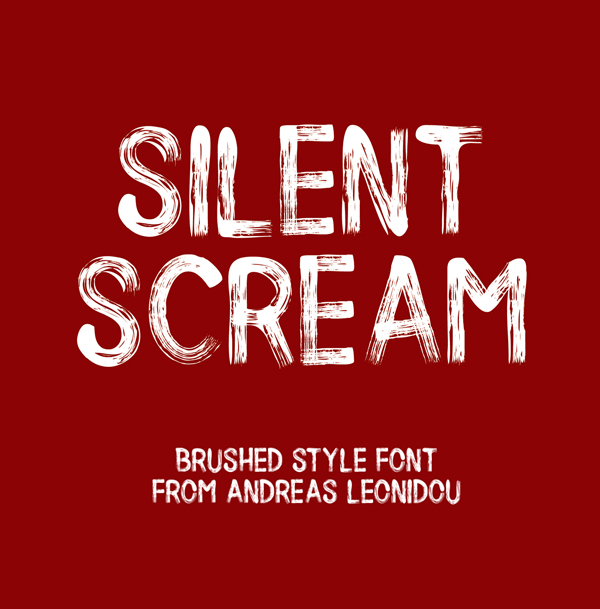 Silent Scream free fonts