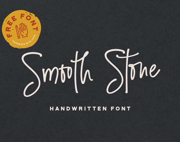 Smooth Stone Handwritten free fonts