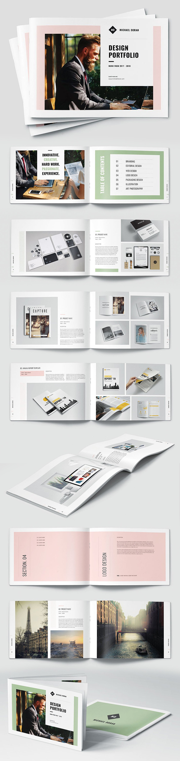 100 Professional Corporate Brochure Templates - 38