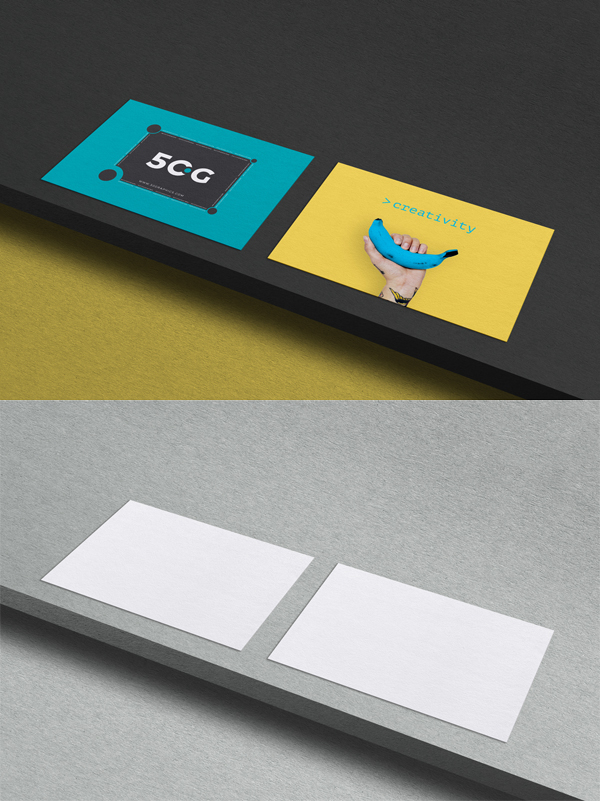 Free Executive Business Card on Wood Mockup