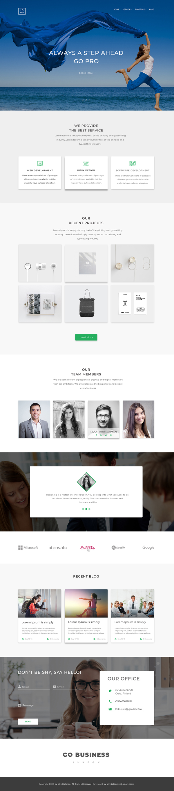 Free Web Design Template - Step Ahead