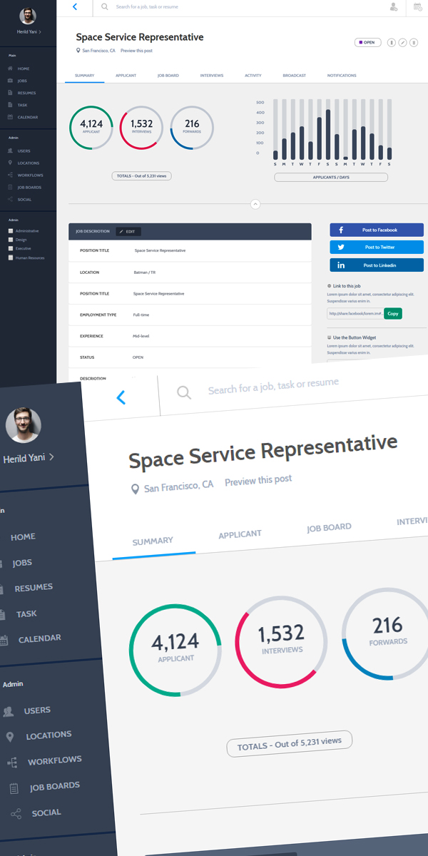 Freebie HTML Dashboard UI Design