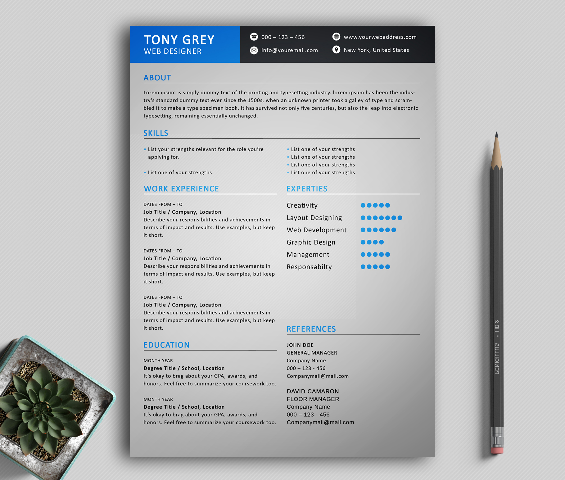 Freebie  Simple Resume Template With Cover Letter  Freebies