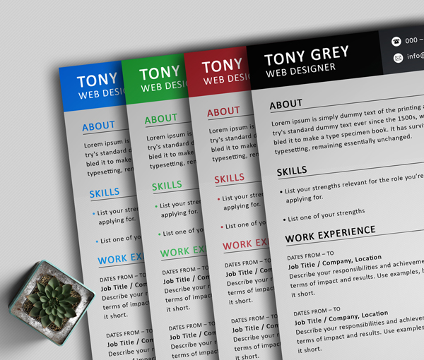 Freebie – Simple Resume Template with Cover Letter - 2