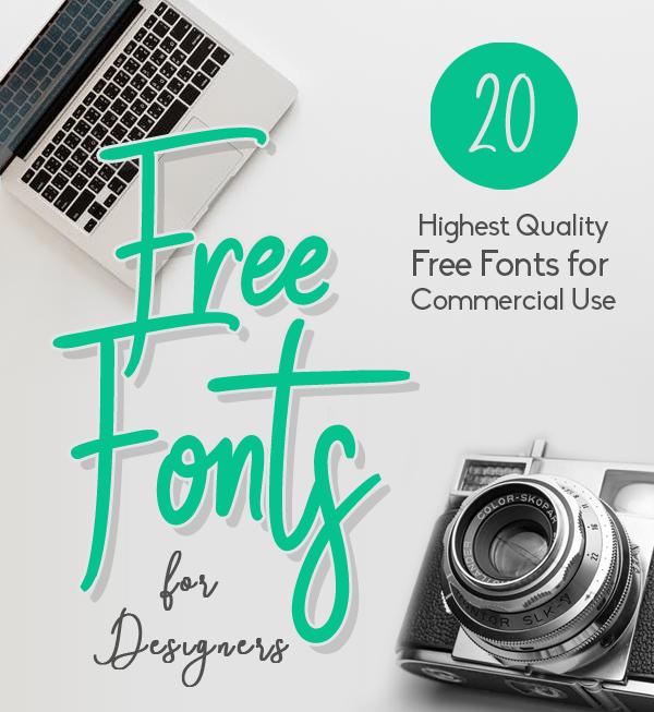 20 Fresh Free Fonts for Creative Designers