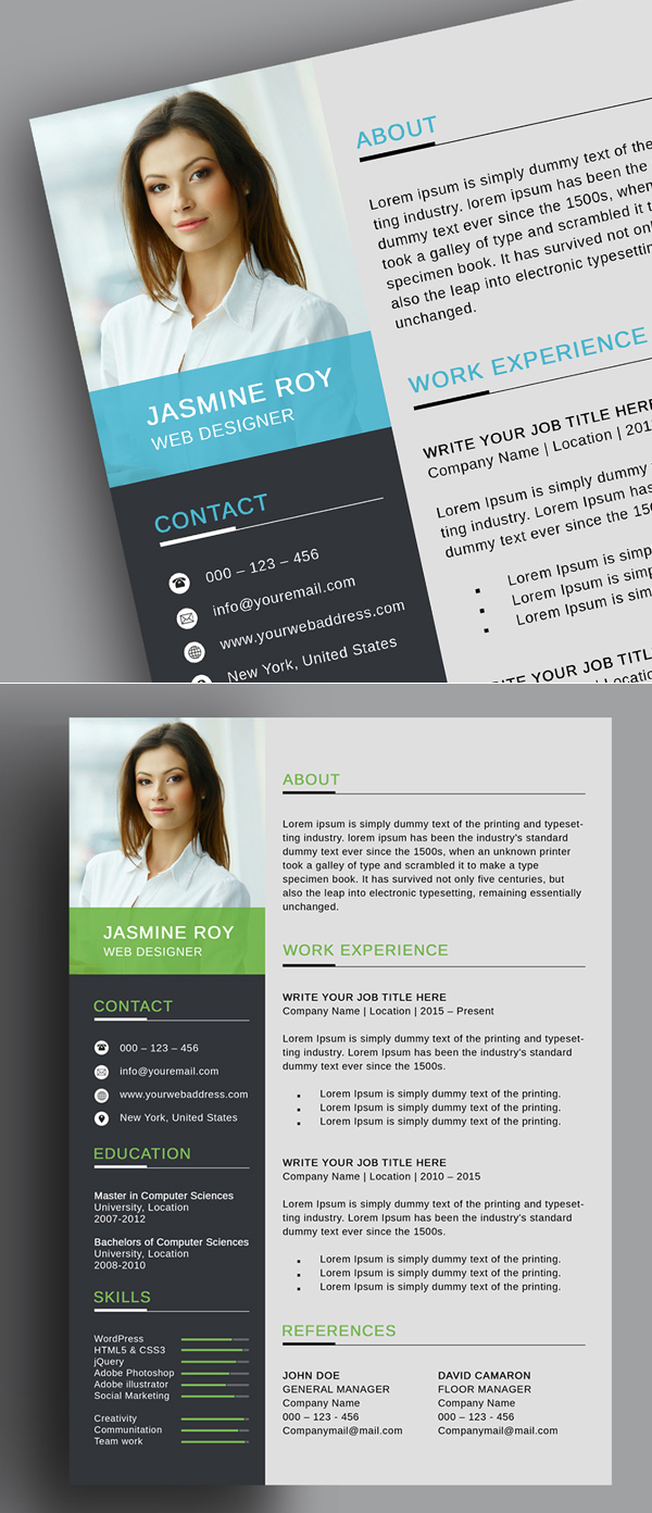 Freebie: Free Clean CV/Resume Template