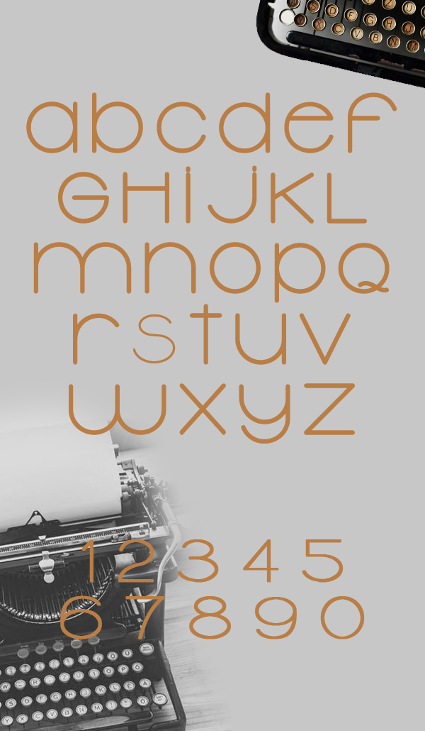 Typolino Free Font Letters