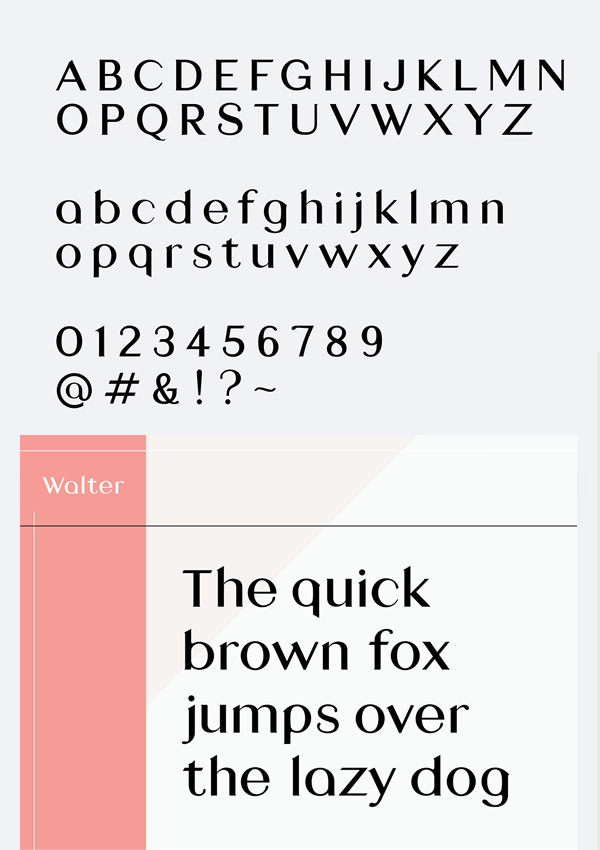 Walter Free Font Letters and Numbers