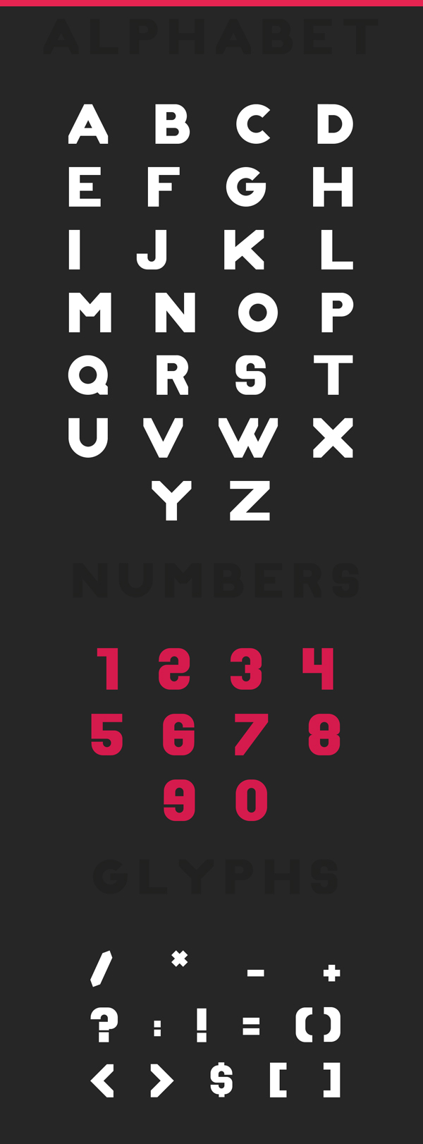 ZIX Free Font Letters and Numbers