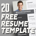 Post Thumbnail of 20 Free Simple Clean Resume Templates