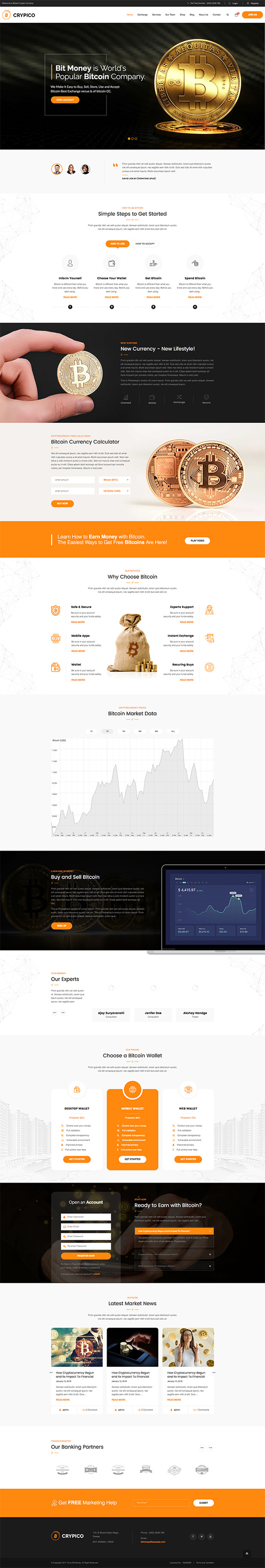 Crypico - Crypto Currency WordPress Theme