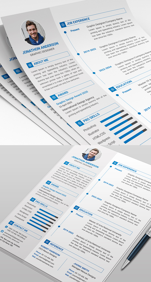 Freebie: Simple Resume Template for Graphic Designers
