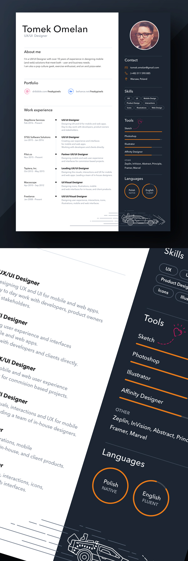 Freebie: Personal Resume Design Sketch