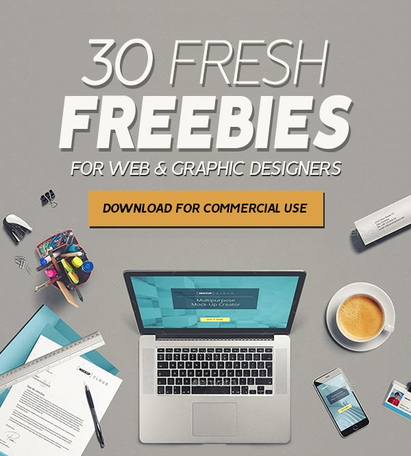 30 Fresh Freebies for Web & Graphic Designers