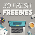 Post thumbnail of 30 Fresh Freebies for Web & Graphic Designers