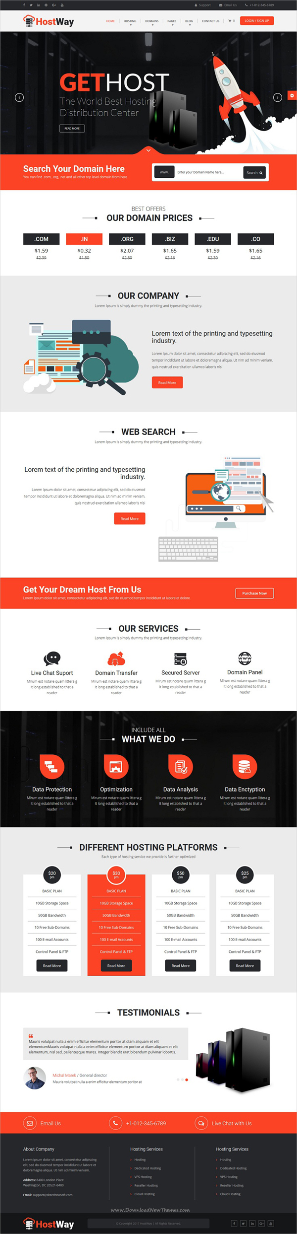 HostWay - Responsive Hosting WordPress Theme