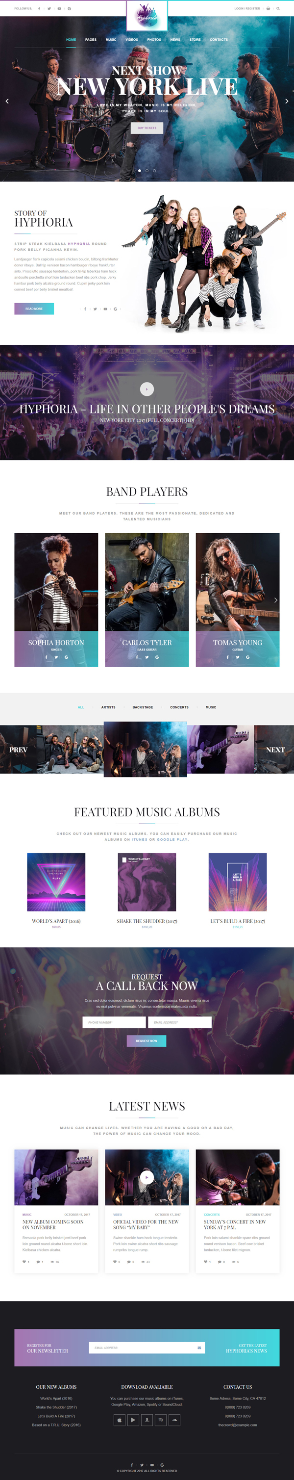 Hyphoria - Rock Band WordPress Theme