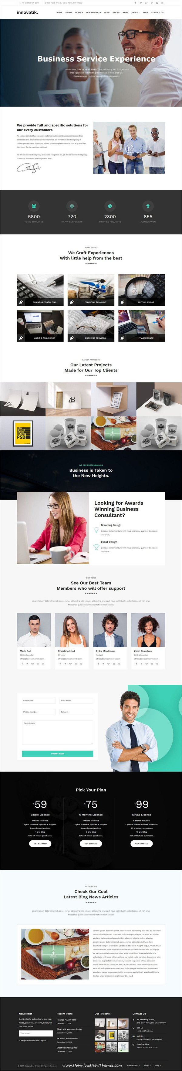 Innovatik - Corporate WordPress Theme