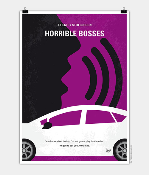 Horrible Bosses Minimal Movie Posters - 16