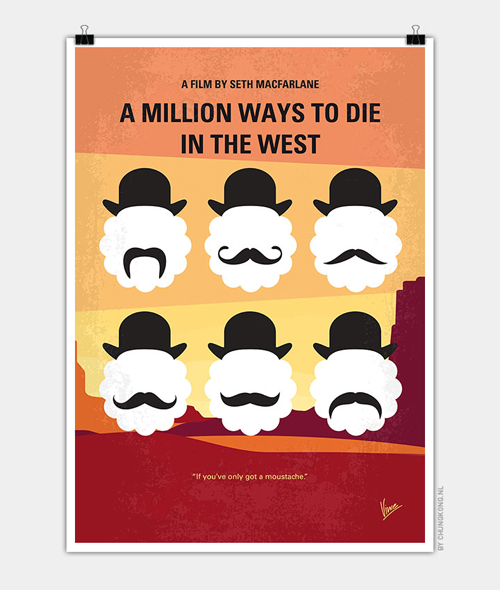 A Million Ways to Die in the West  Minimal Movie Posters - 19