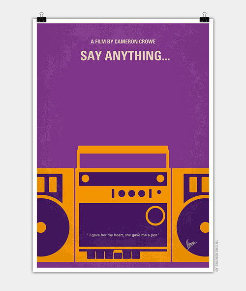 Say Anything Minimal Movie Posters - 23