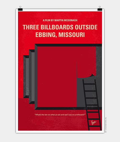 Three Billboards Minimal Movie Posters - 8
