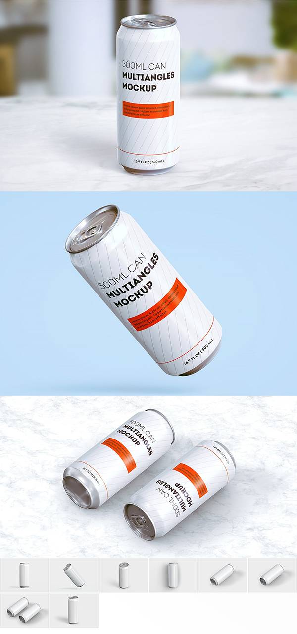 Slim Can Mockup (500 ml)