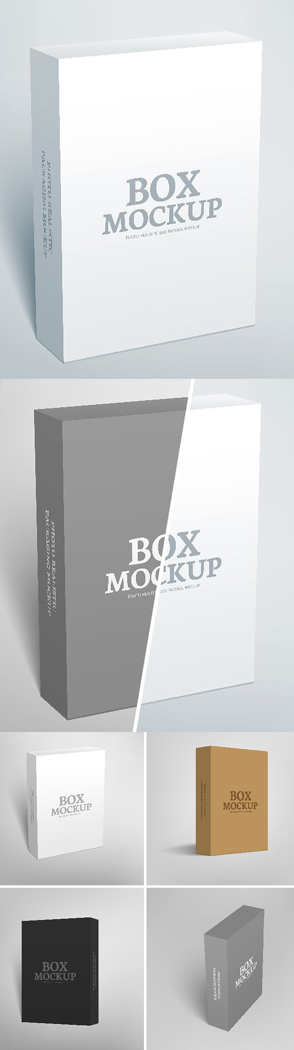 Software Packaging Box Mockup