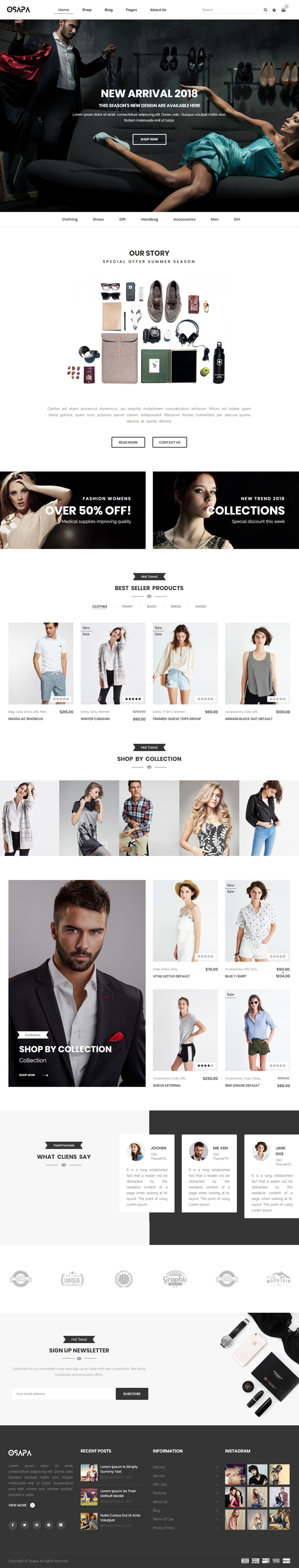 Osapa - Fashion Responsive WooCommerce WordPress Theme