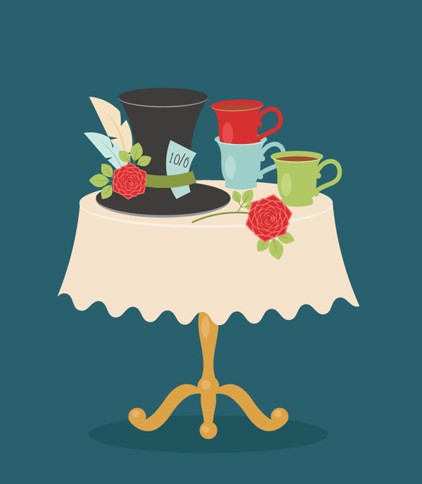 How to Create an Alice in Wonderland Tea Party Scene in Adobe Illustrator