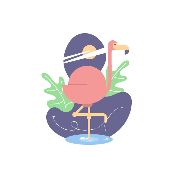 How to Create a Geometric Flamingo Bird in Adobe Illustrator