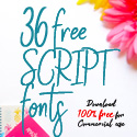 36 Free Script Fonts for Graphic Designers