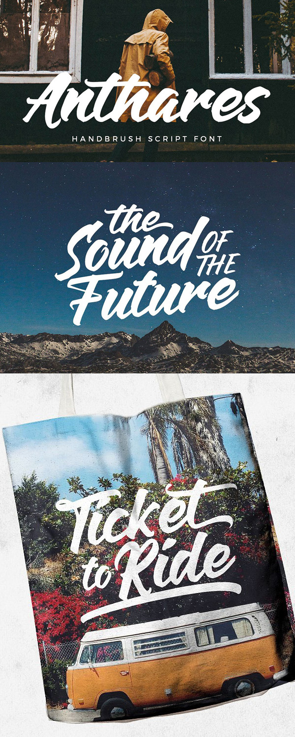 Anthares Free Script Font - 50 Best Free Brush Fonts